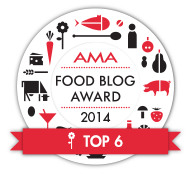 top6 bei AMA food blog award 2014