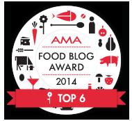 top6 bei AMA food blog award 2014