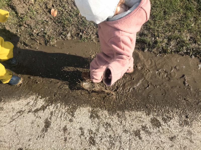 disana wollwalk anzüge im härtetest - schmutz und gatsch :D