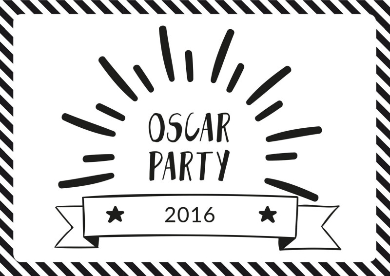 oscar party - die academy awards 2016 - free printables