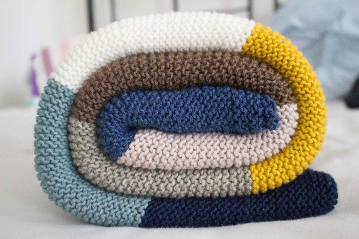 babydecke mit streifen selbst stricken