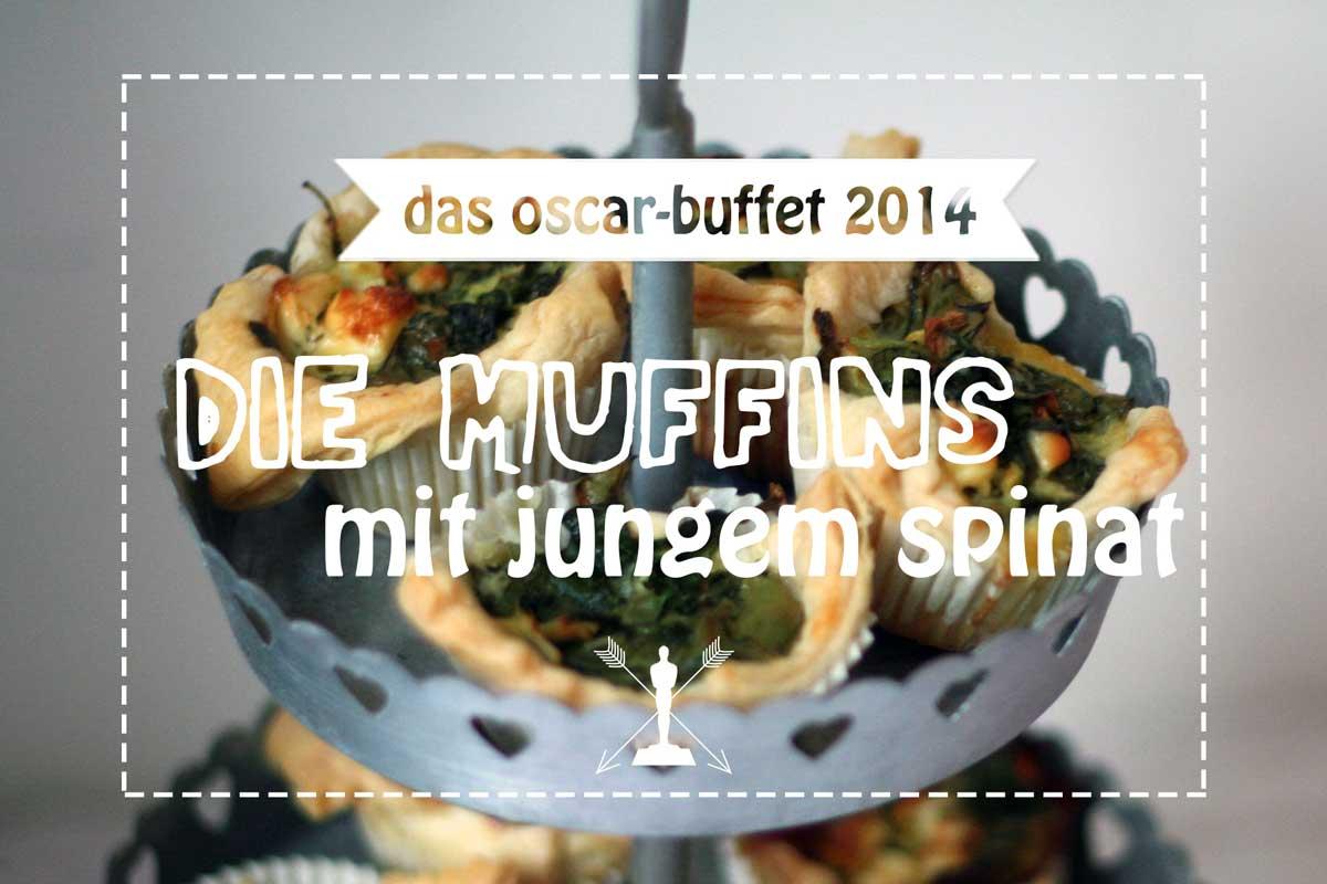 oscar buffet 2014: blätterteig-muffins mit spinat