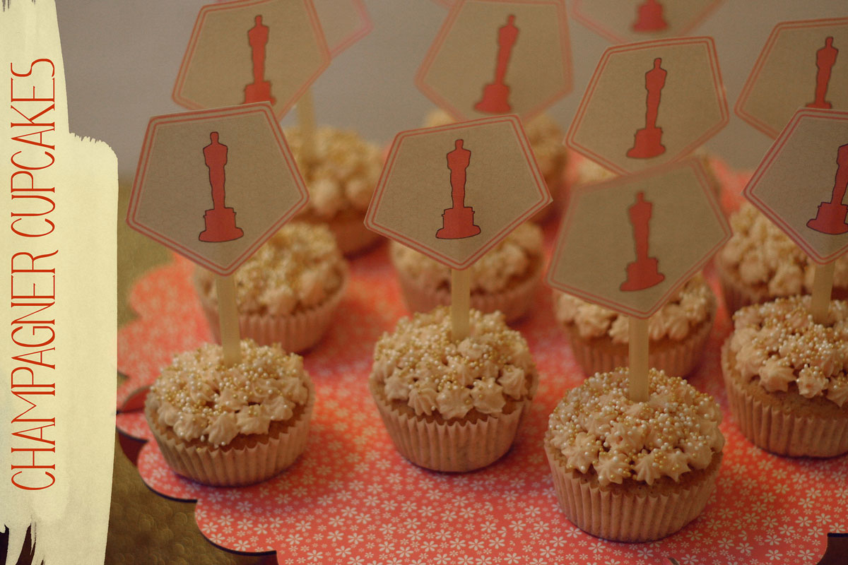 champagner-cupcakes inkl. cupcake toppers {free printables}