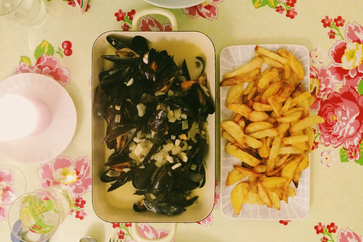 dinner mit moules & frites
