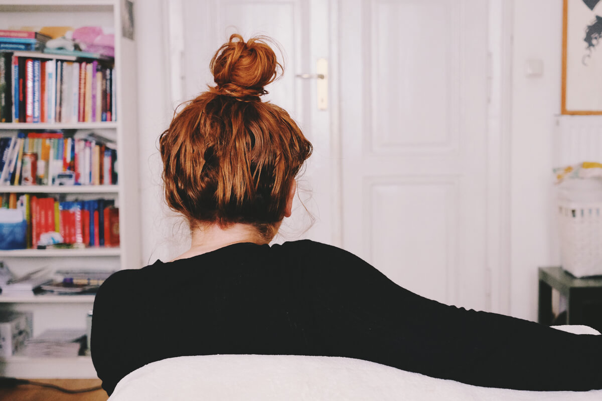 Redhead Girl Bun - Dutt