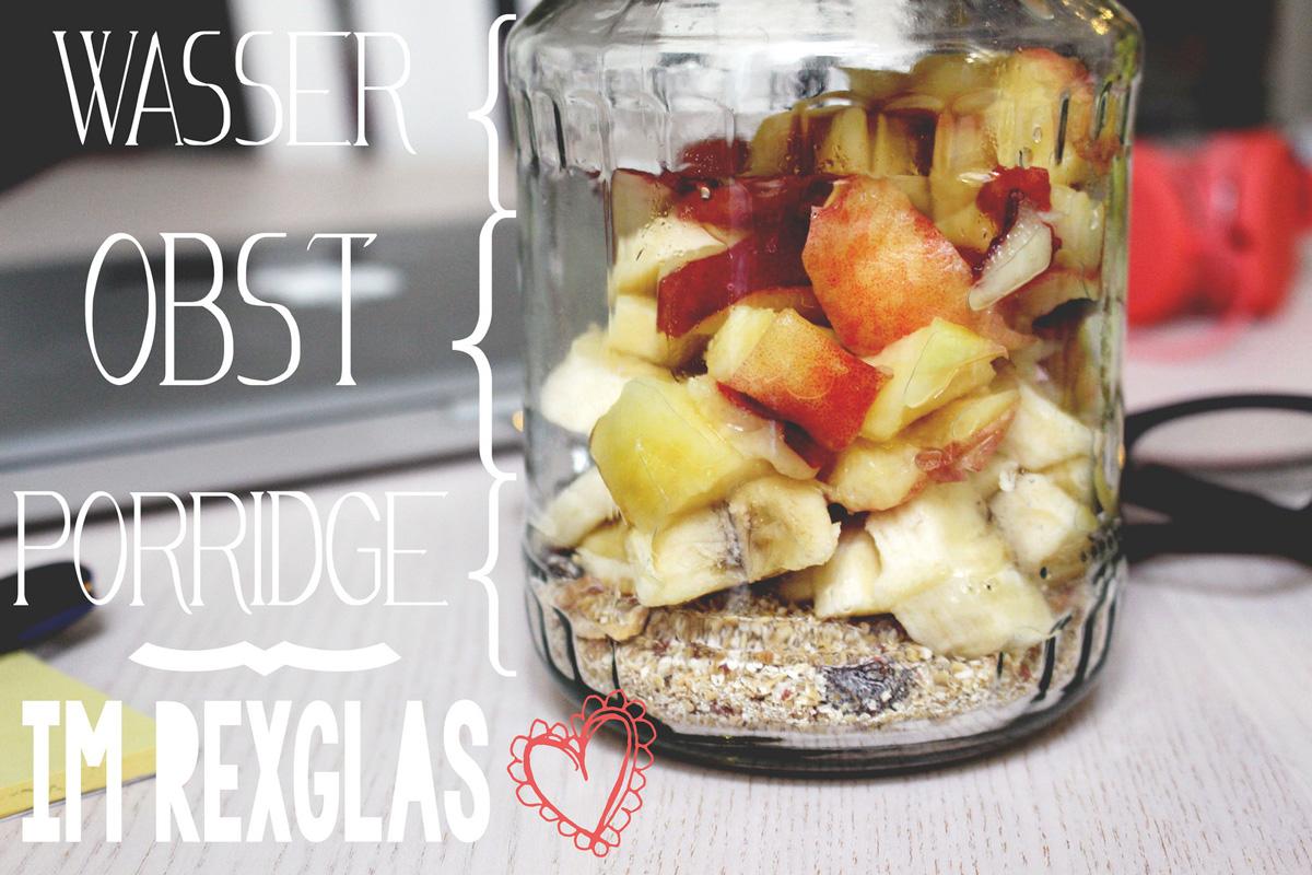 Verival porridge aus dem rexglas