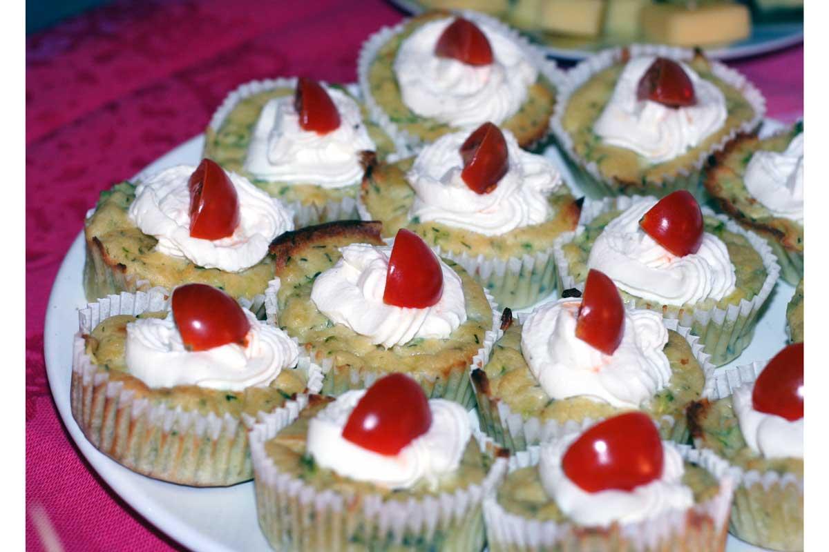 pikante muffins für das party buffet