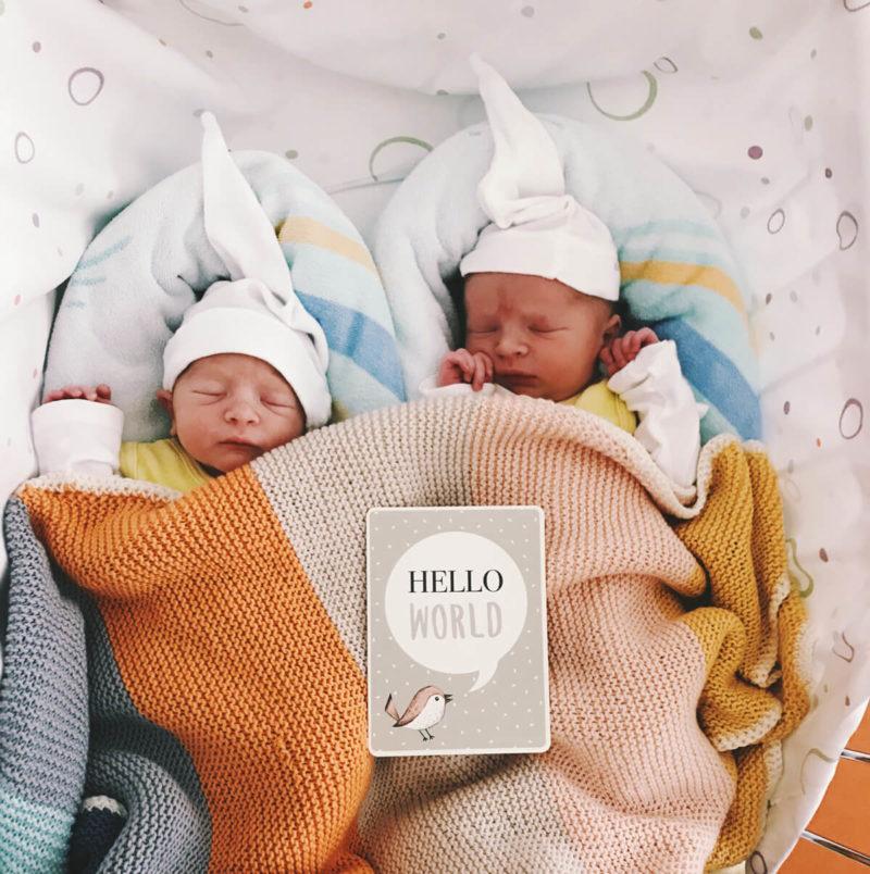 unsere zwillinge sind geboren